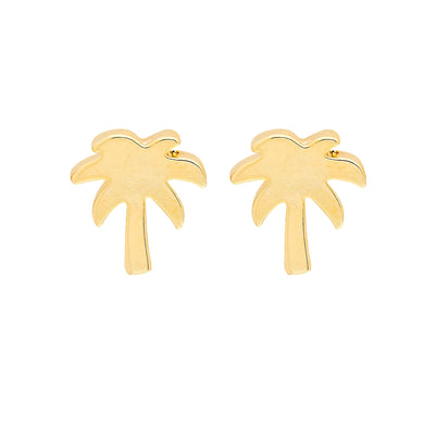 Palm Tree Earrings in Gold and Silver