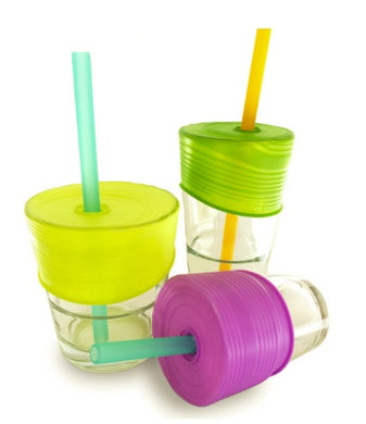 Siliskin Straw Top Set (3 lids + 1 straw)