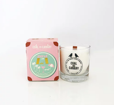Coal and Canary Candle-Rose in LA