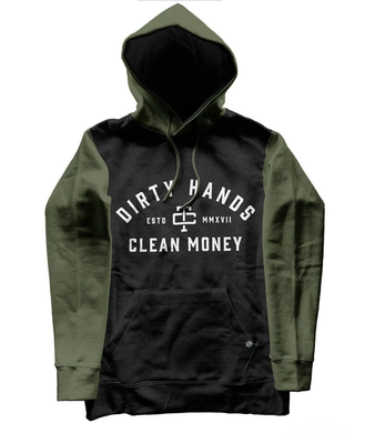Two Tone Hoodie-Black/Green