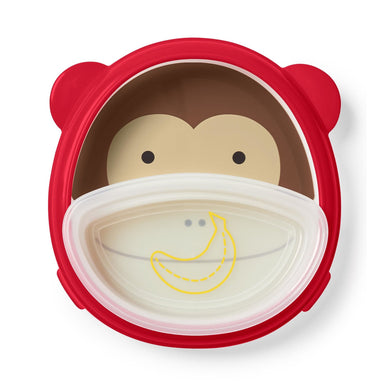 Smart Serve Plate & Bowl - Monkey