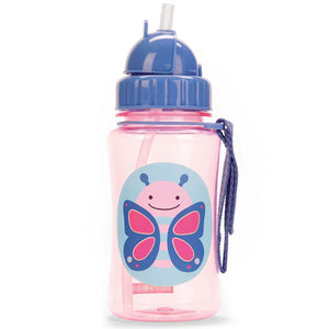 Zoo Bottle with Straw - Butterfly
