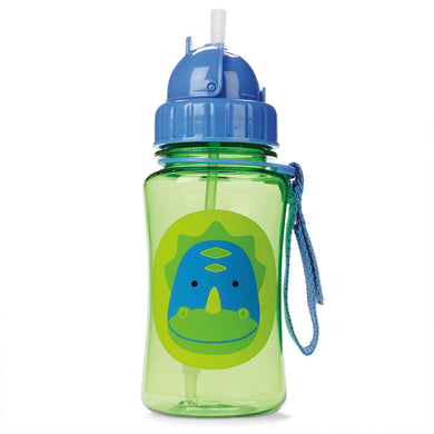 Zoo Bottle with Straw - Dinosaur