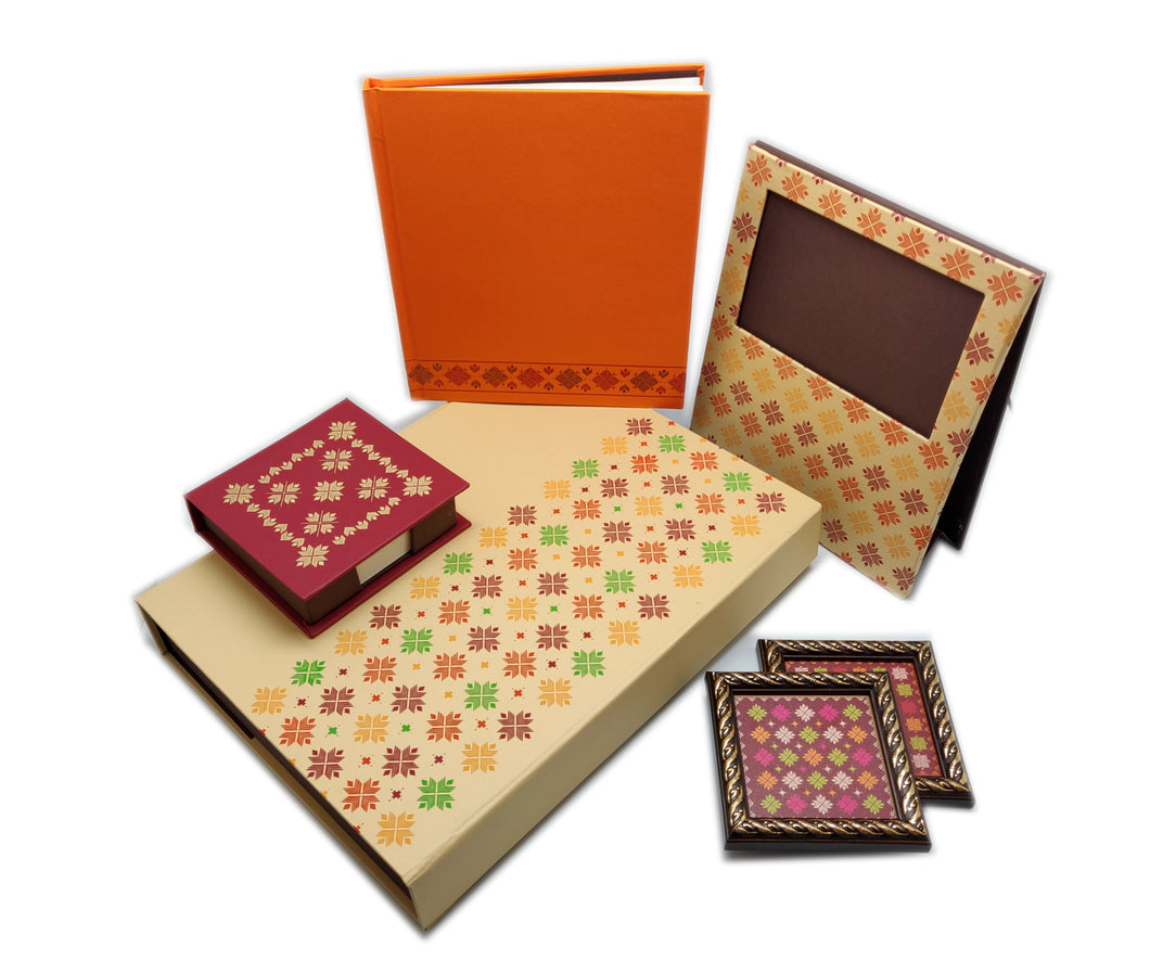 Phulkari Gift Set Cream