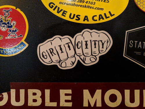 Grit City knuckles sticker