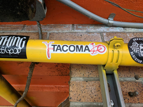 Tacoma Ruston Way bike sticker
