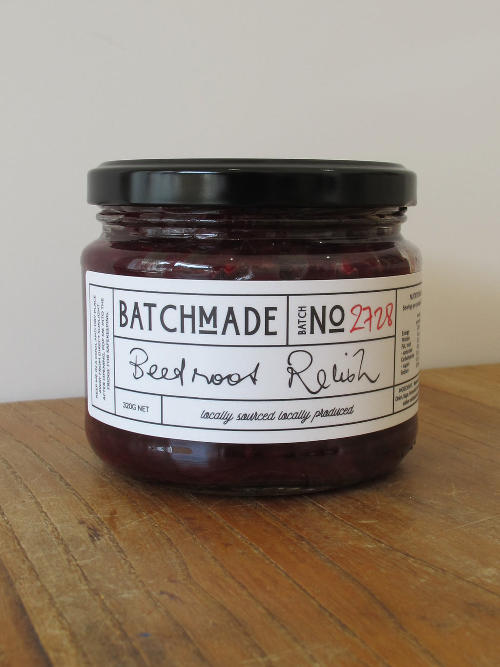 Beetroot relish jar