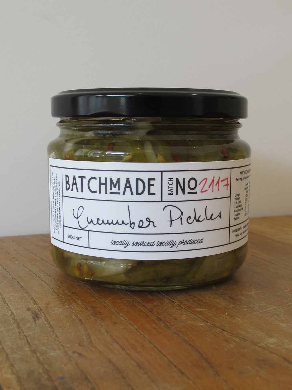 Cucumber pickles jar