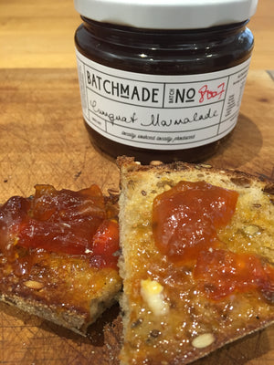Cumquat marmalade on toast