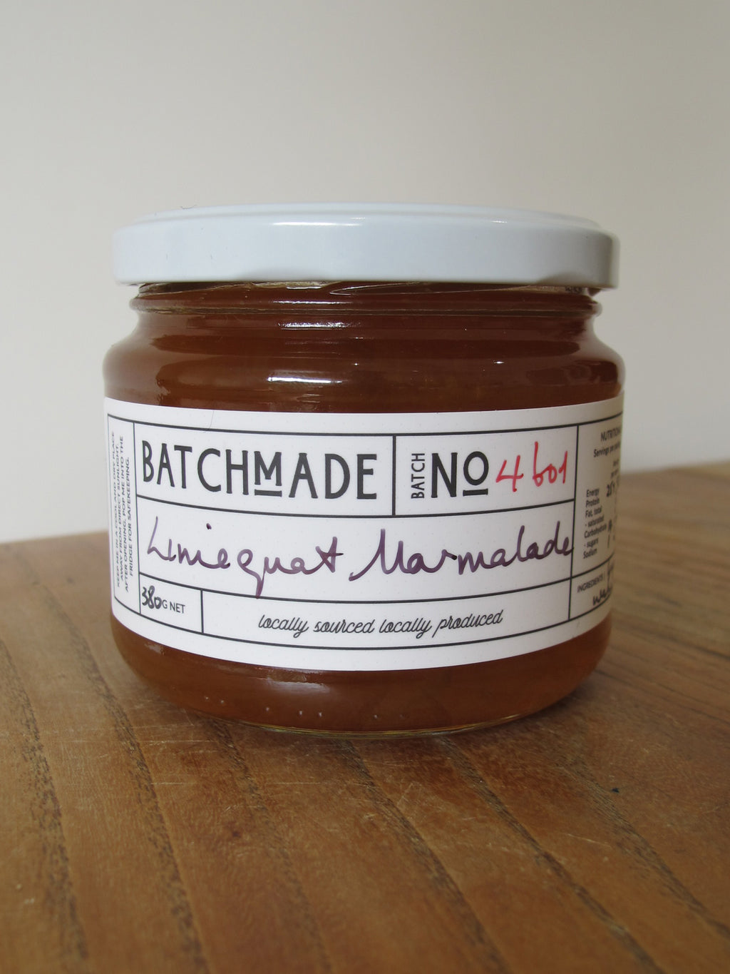 Limequat marmalade in BatchMade jar