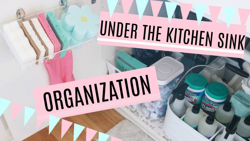 In this video, I show you how to organize under the kitchen sink