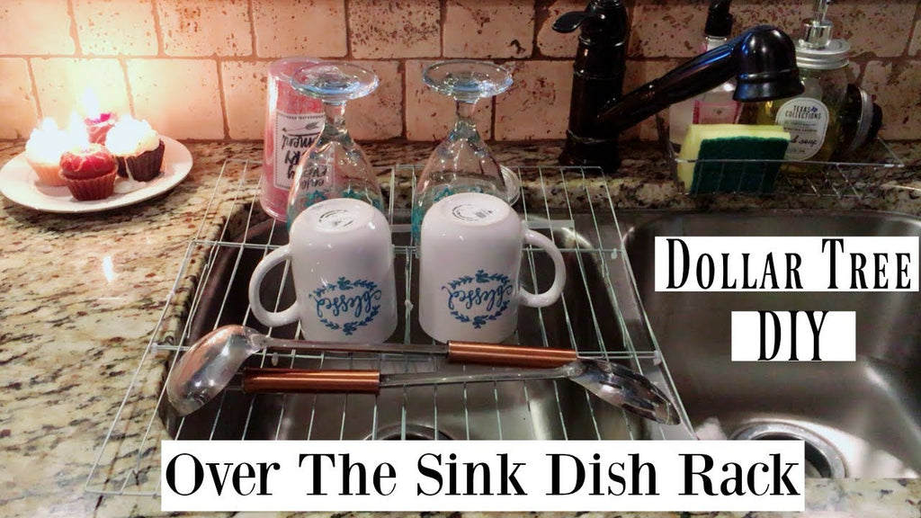 Hello Beauties today's Dollar Tree DIY is an Over The Sink Dish Rack