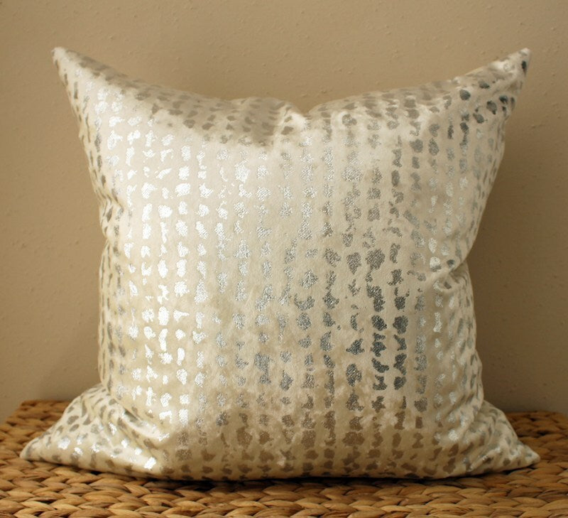 Fresh Silver Metallic Pillow