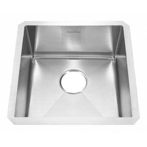 American Standard 12SB.171700.073 Prevoir Luxury Undermount 17-Inch Stainless Steel Single Bowl Kitchen Sink, Brushed Satin