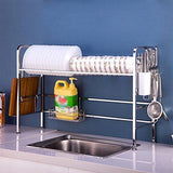Kitchen tlmy stainless steel dish rack sink drain rack kitchen racks shelf