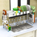 Shop here dish drainer rack holder 304 stainless steel kitchen racks pool drying dishes dishes storage supplies dish rack sink drain rack