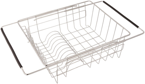 Amazon just manufacturing jedd 1375115 stainless steel adjustable in sink dish rack with extendable arms