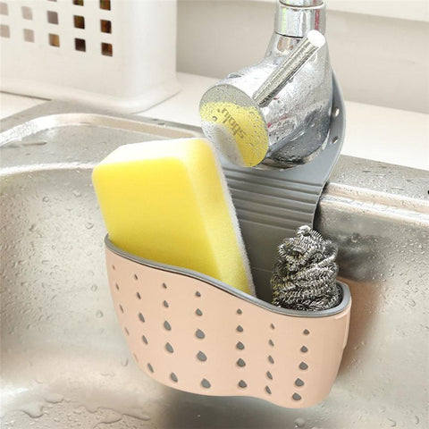 Kitchen and Bathroom Sponge and Soap Organizer