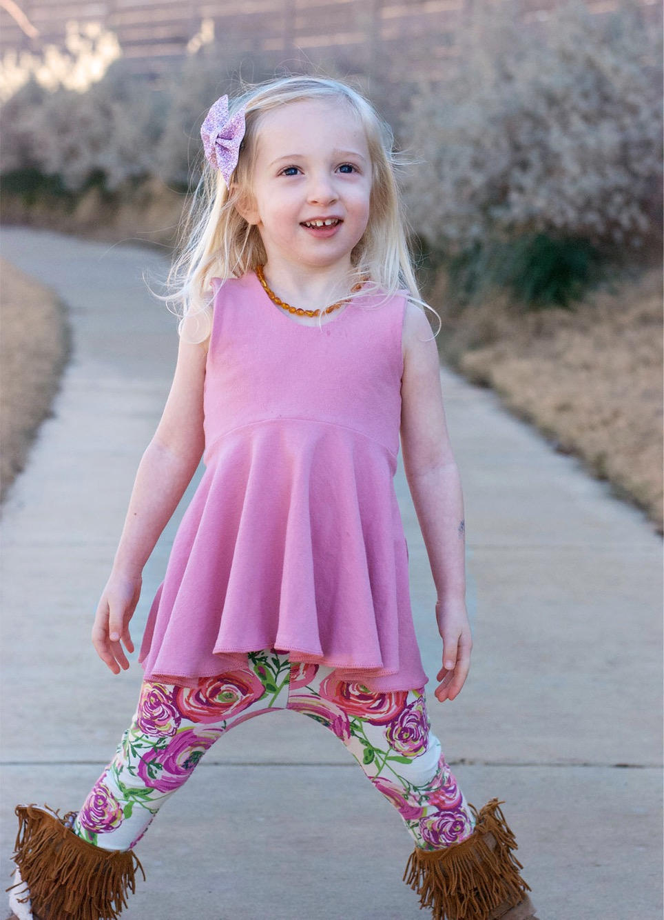 Dusty Rose Pink Peplum - Girls Racerback Solid Tank Top Twirl Top - Kids Mauve Fit and Flare Shirt - Easter Sleeveless Tunic Dress Baby