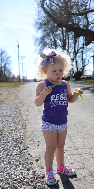 Purple Dinosaur Bloomers - Girls Spring Toddler Shorties - Kid Shorts - Summer Bummies Handmade Knit, Summer White Purple Dinos
