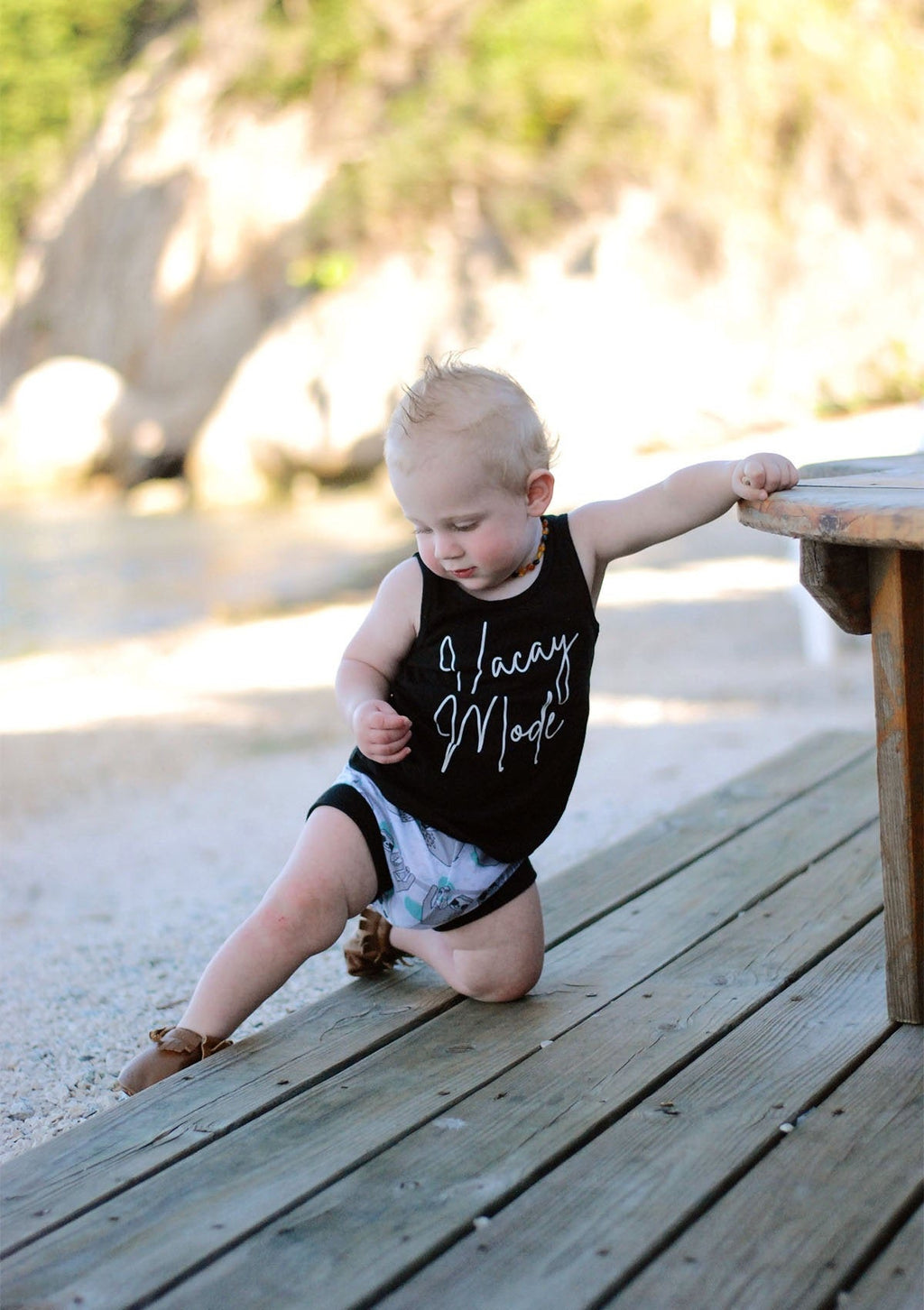 Vacay Mode Tank Top - Blue or Black Vacation Racerback Shirt - Girls Kids, Toddler, baby Summer Racerback Tee, Girls Shirt