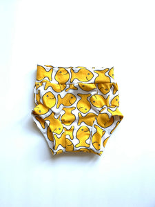 Goldfish Inspired Bloomers - Kids Snack Cracker Bummies Shorts - Girls Gold Yellow Summer Shorties
