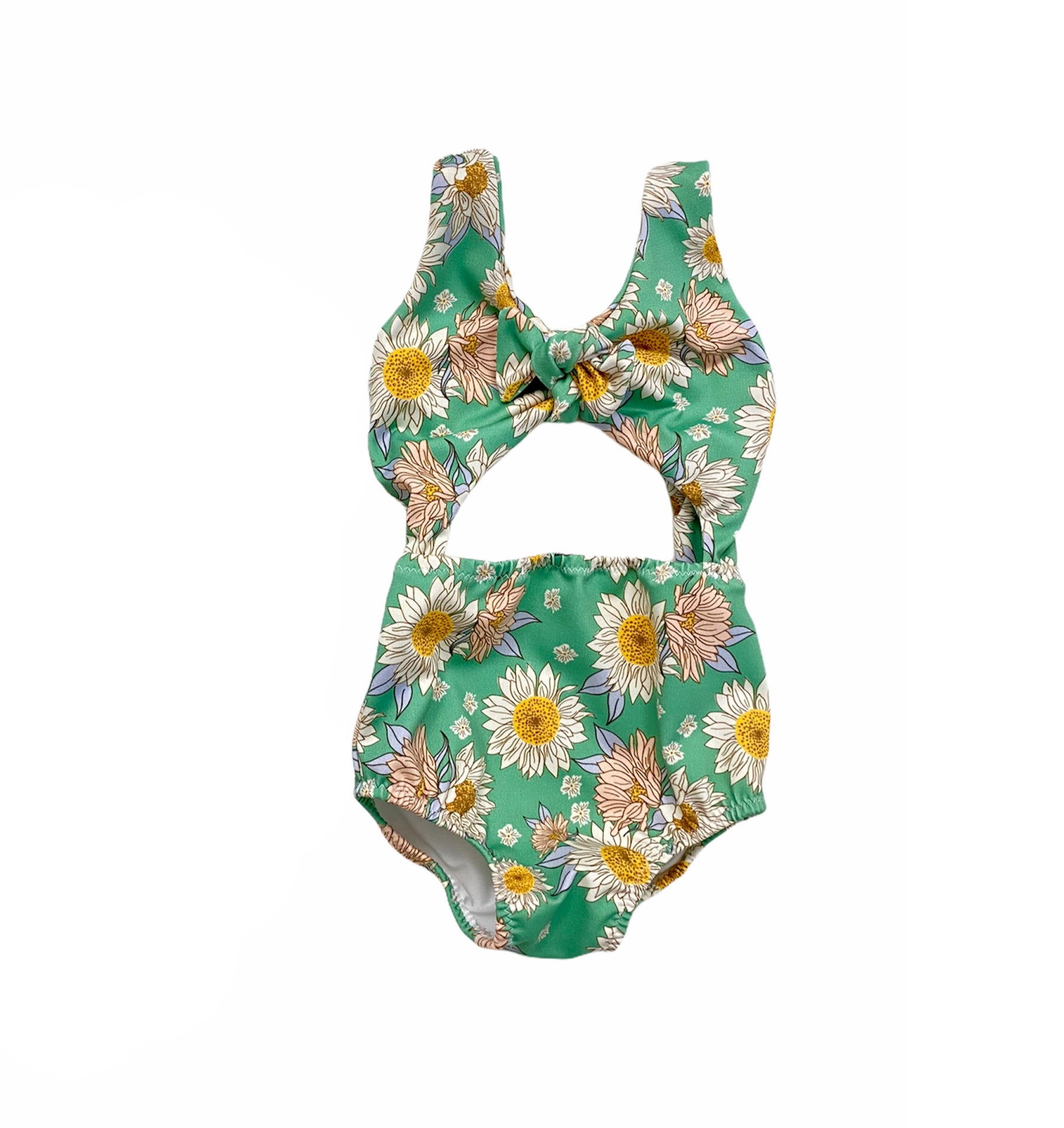 Mint Floral Peek-a-Boo One Piece Swimsuit