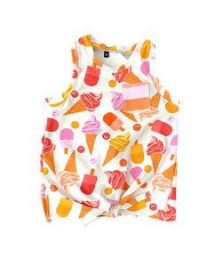 Ice Cream Tie Front Tank Top