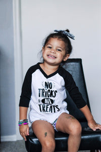 No Tricks, All Treats Halloween Raglan