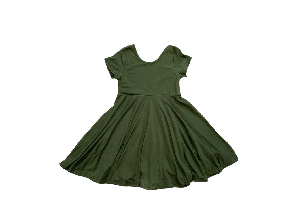 Olive Green Fall Twirl Peplum or Dress