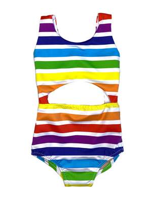 Bright Stripes One Piece Swimsuit