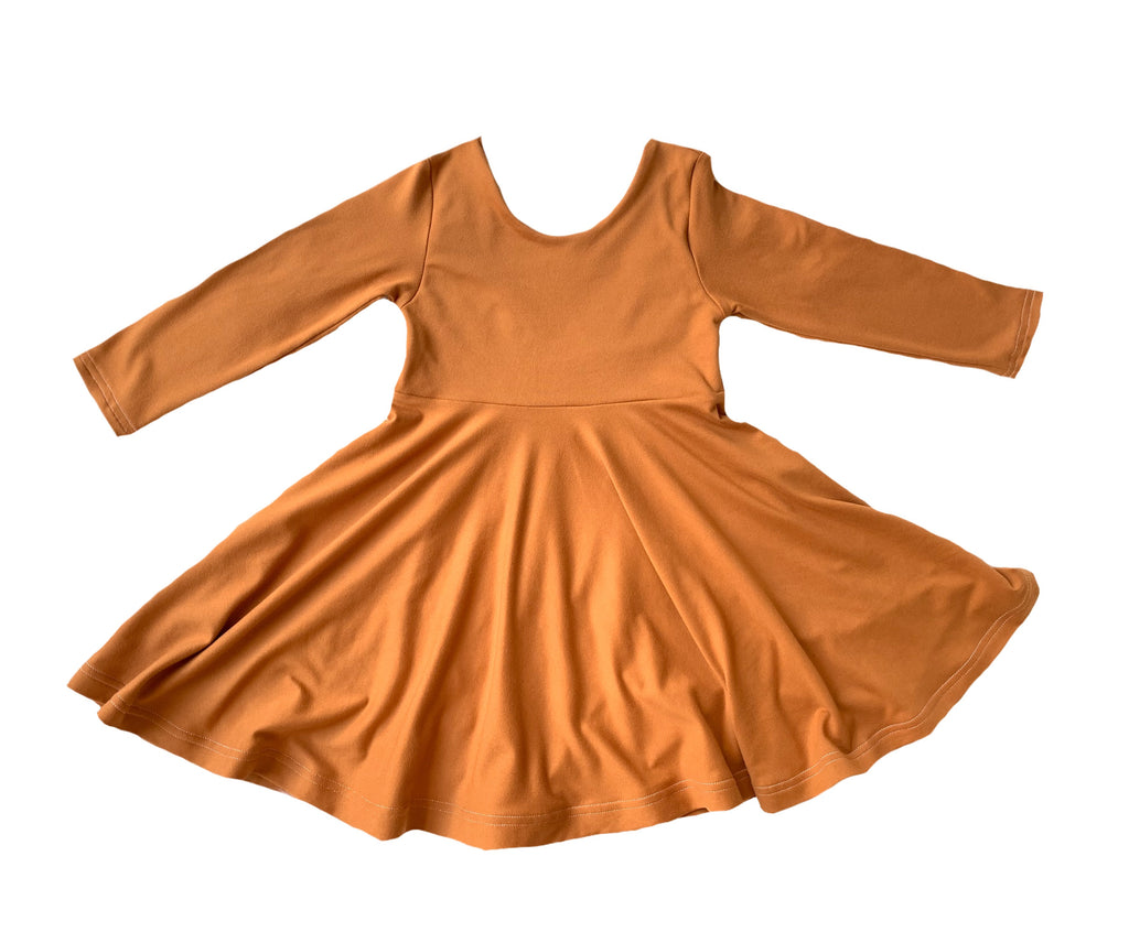 Pumpkin Spice Fall Twirl Peplum or Dress