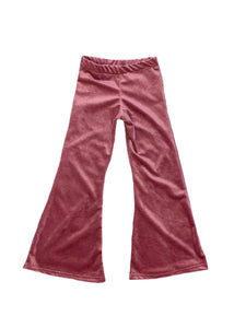 Soft Corduroy Bell Bottoms - Mauve Pink