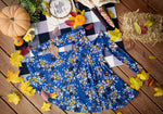 Blue Floral Fall Twirl Top or Dress