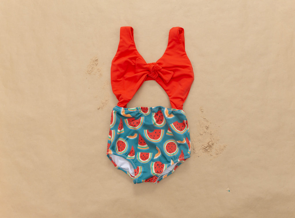 Watermelon Peek-a-Boo One Piece Swimsuit