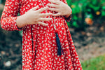 Rusted Red Mini Floral Twirl Dress