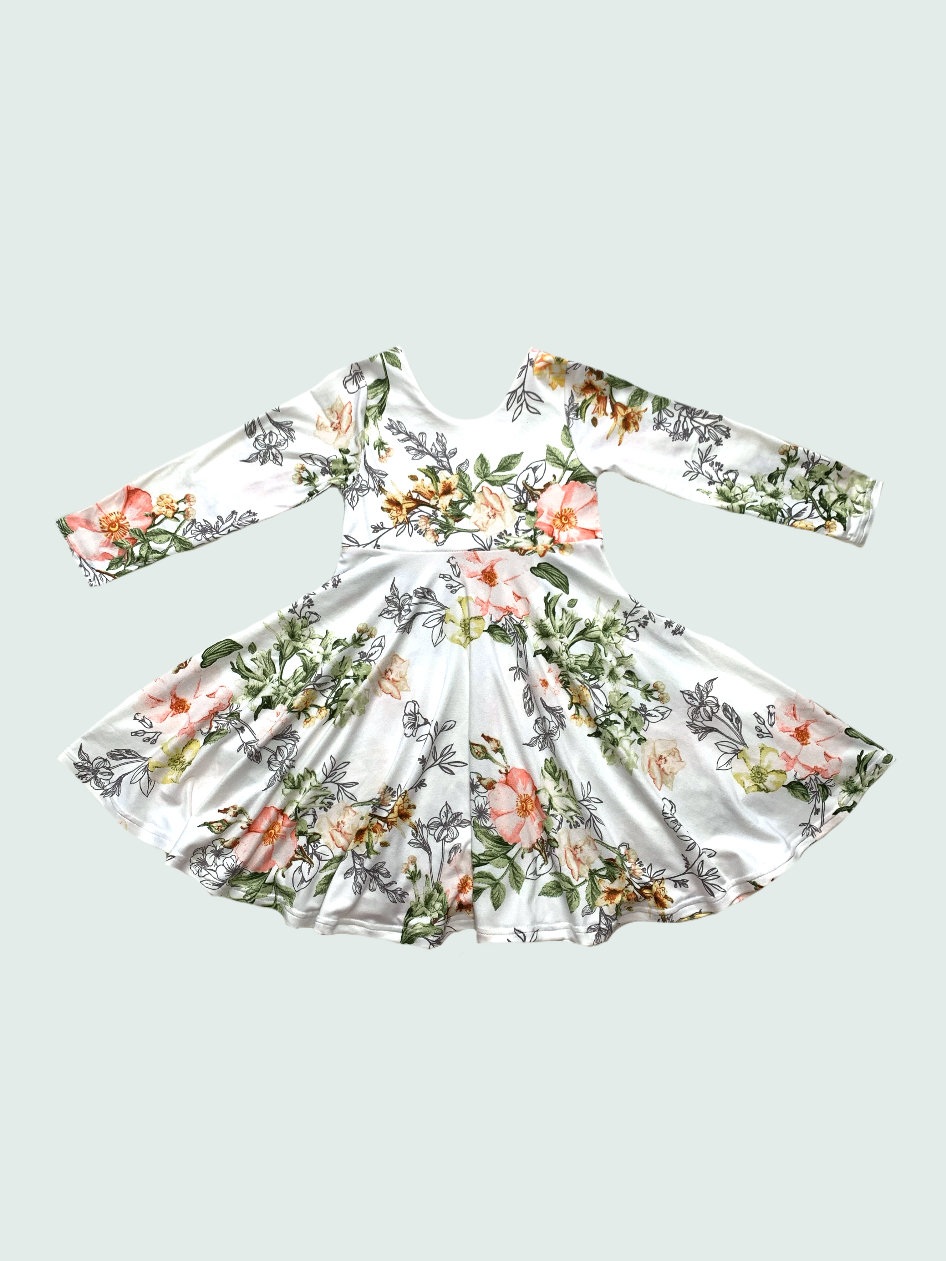 Spring Floral Twirl Dress