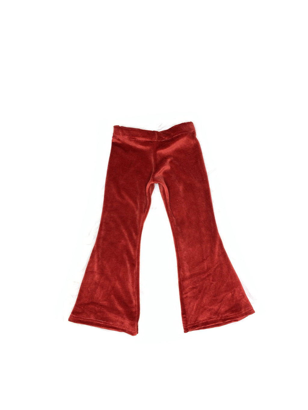 Soft Corduroy Bell Bottoms - Red