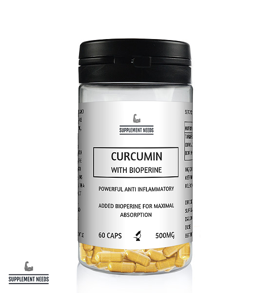 SUPPLEMENT NEEDS CURCUMIN WITH BIOPERINE - 60 CAPSULES