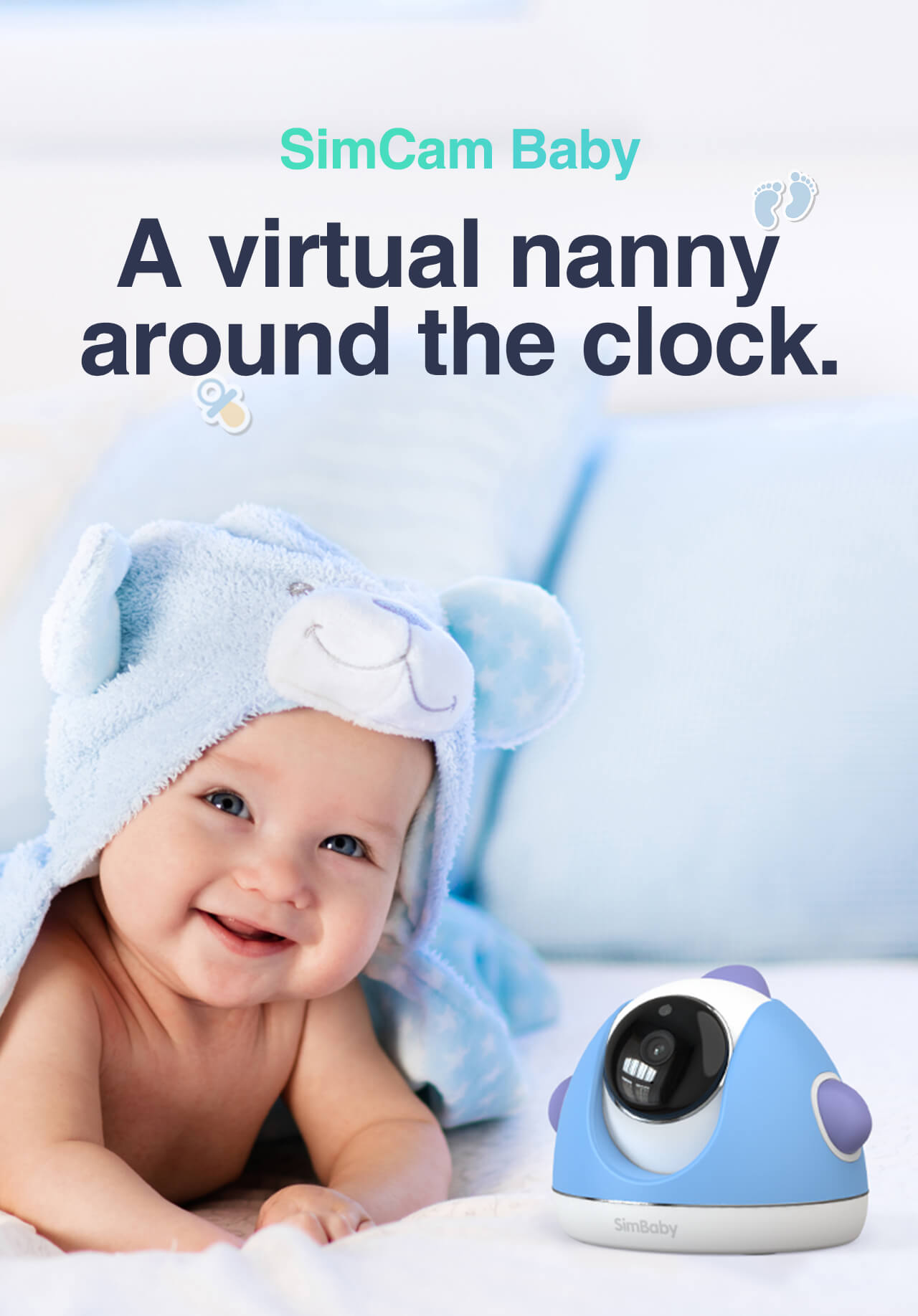 SimCam AI baby monitor