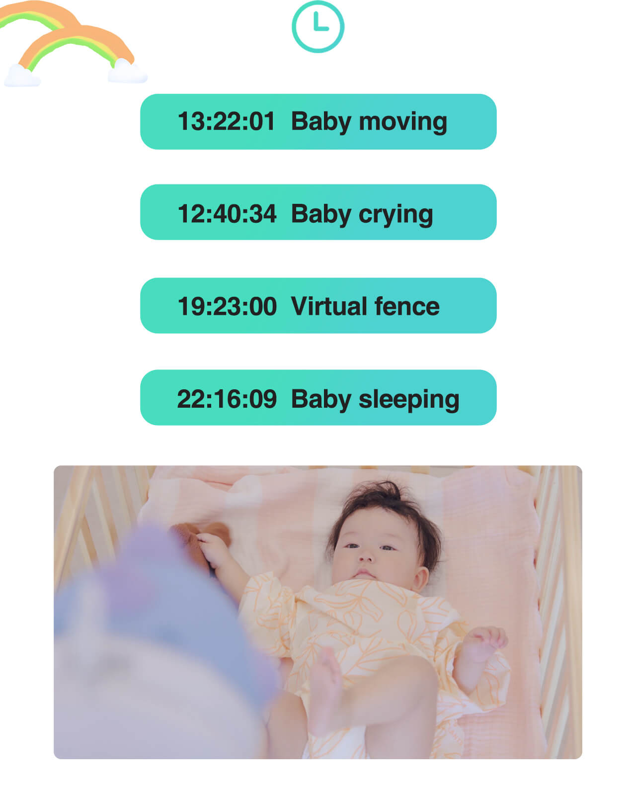 SimCam AI baby monitor keeps 24/7 recording
