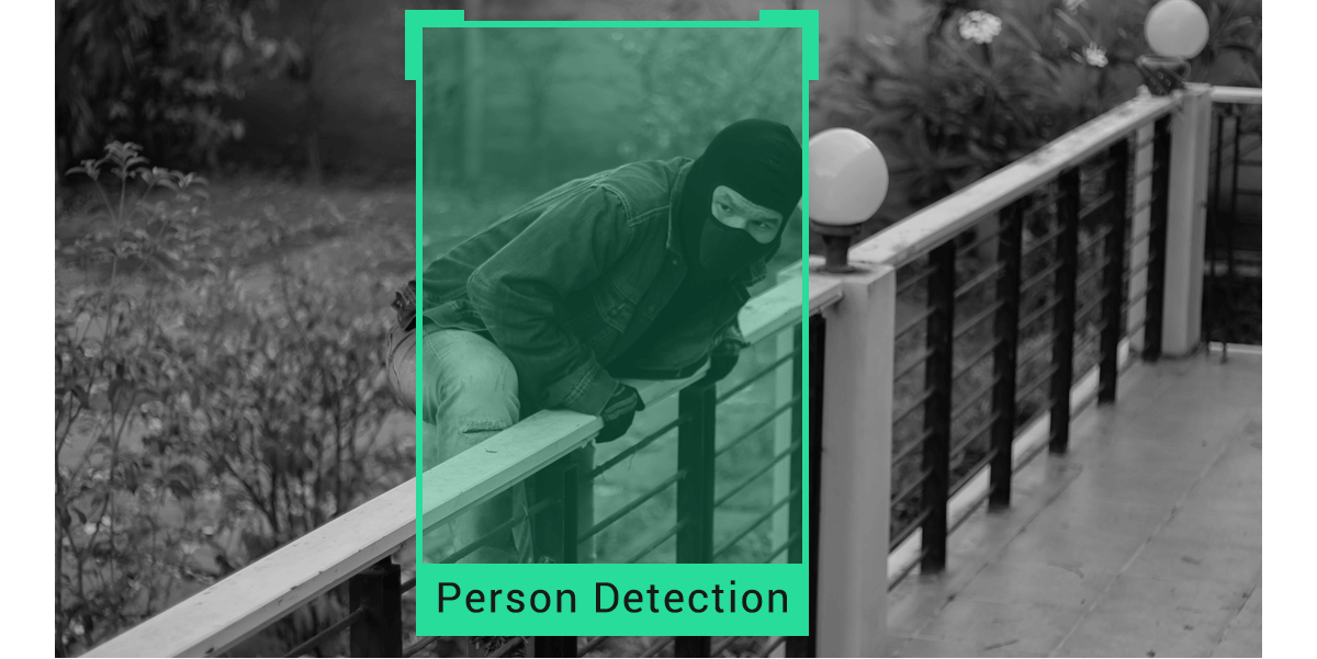 simcam alloy security camera detecting person