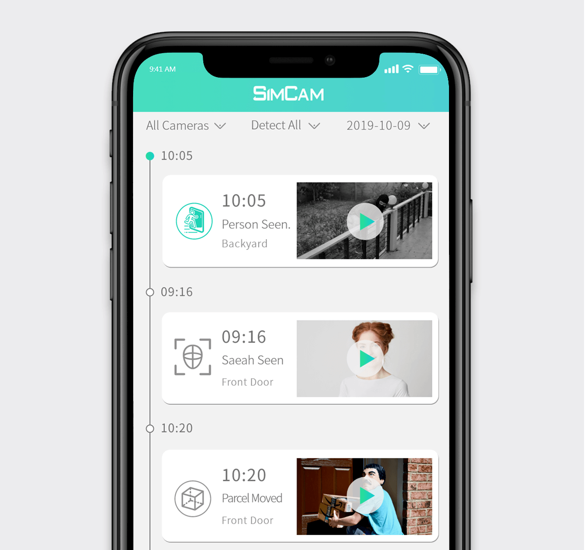 simcam alloy camera fast AI