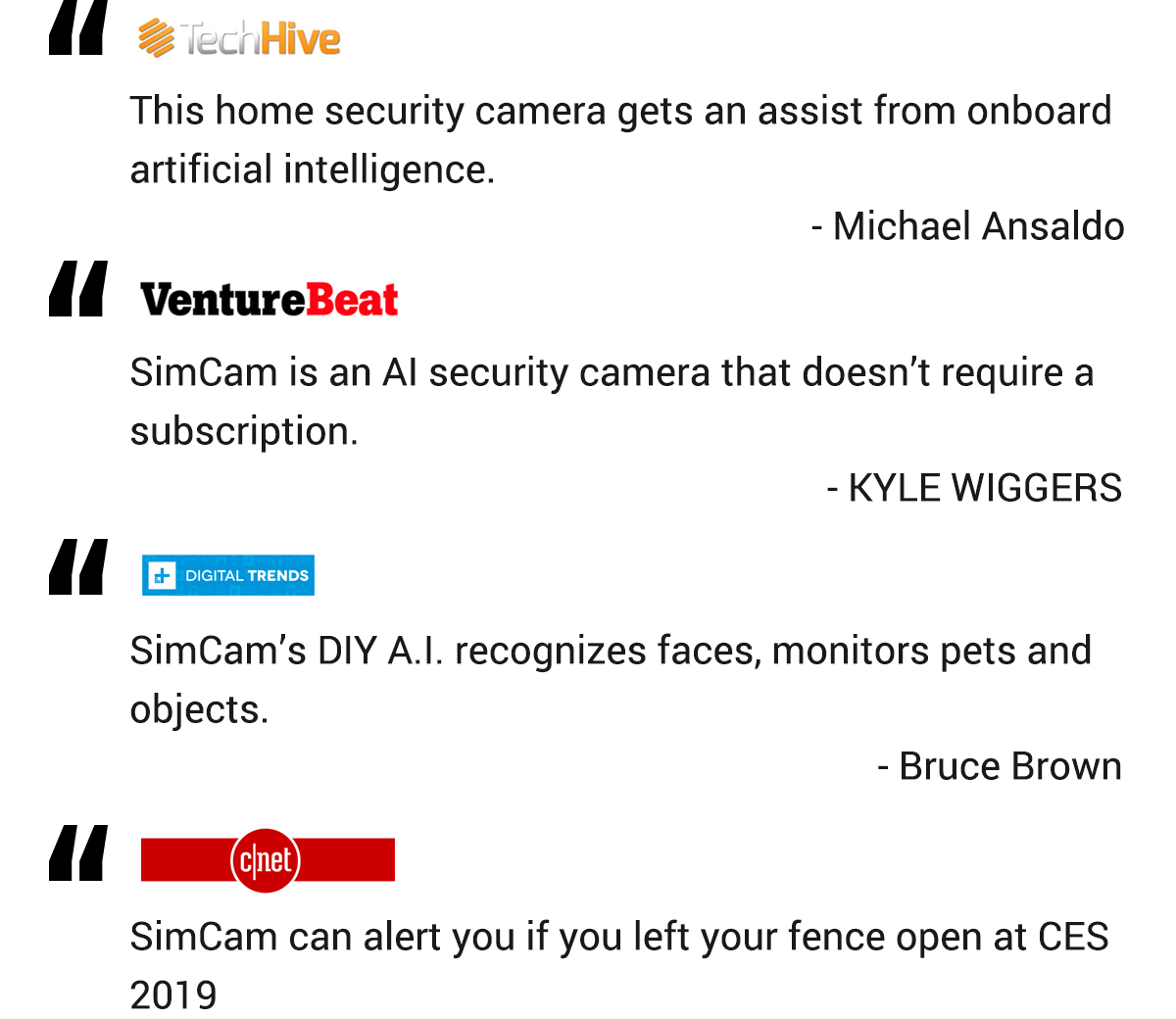 simcam alloy security camera media report