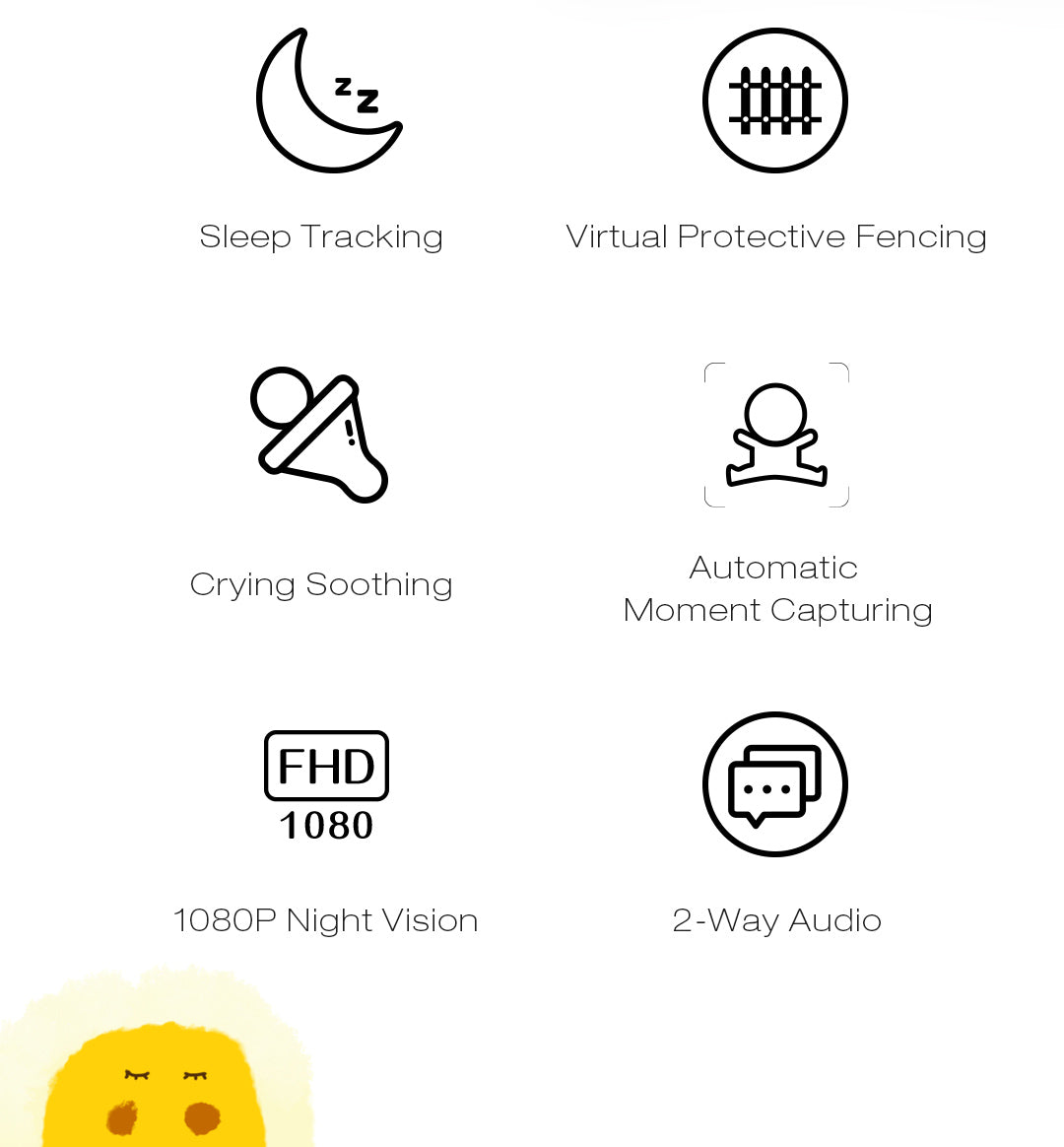 simcam baby monitor main features