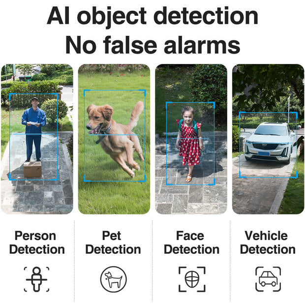 SimCam Alloy 1S AI Outdoor Security Camera ai detection(person/pet/car)
