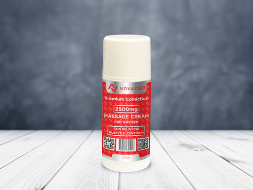 NovaCBD Massage Cream 3.5oz | 2500mg - NovaCBD