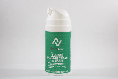 NovaCBD CBD Massage Cream | 500mg - NovaCBD