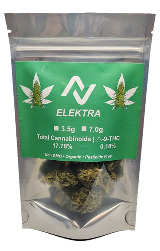 ELEKTRA - 3.5 grams Premium Hand Trimmed 60 days cured flower - NovaCBD