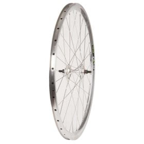 Wheel Shop Evo E-Tour 19 Aero Silver/ Formula TH-51 Wheel Rear 700C / 622 Holes: 32 Bolt-on 120mm Rim Fixed/Freewheel
